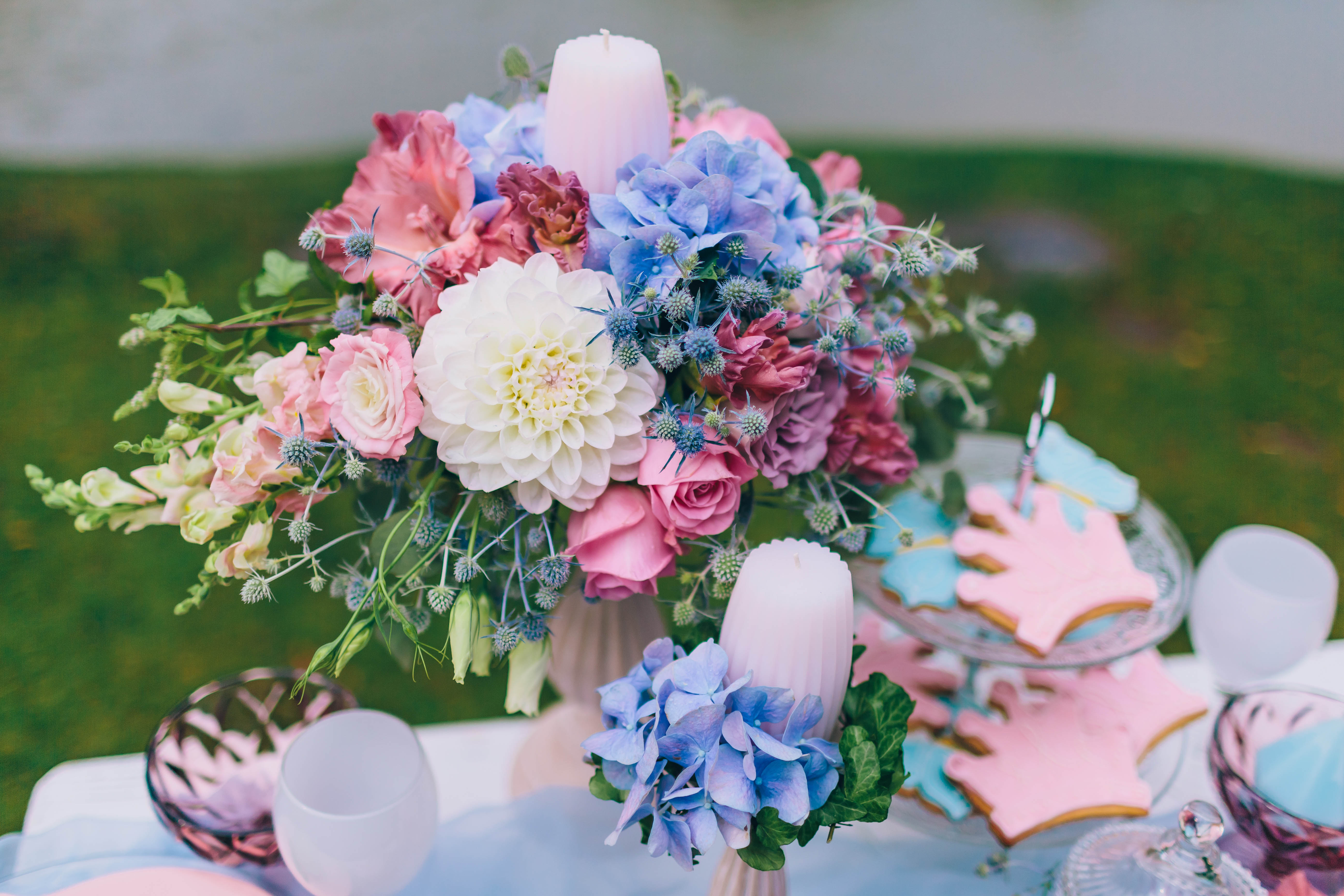 Wedding decoration in the style of boho floral arrangement multicolor wedding floral arrangment junglespirit Image collections