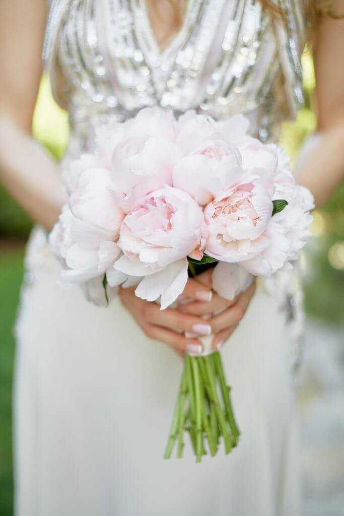 bridal peonies bouquet