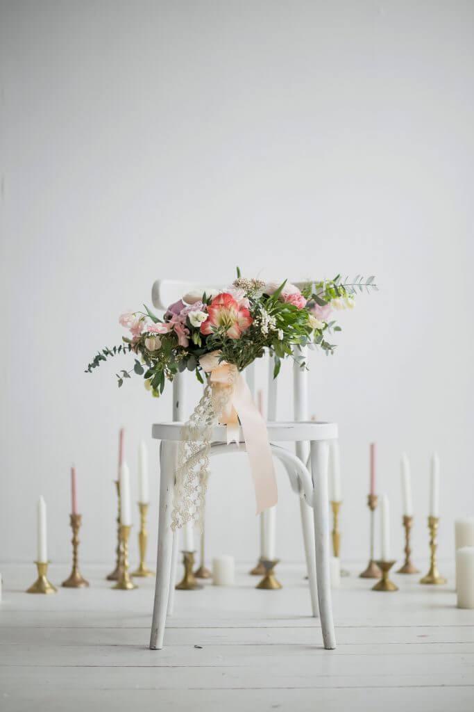 multicoloured bridal bouquet