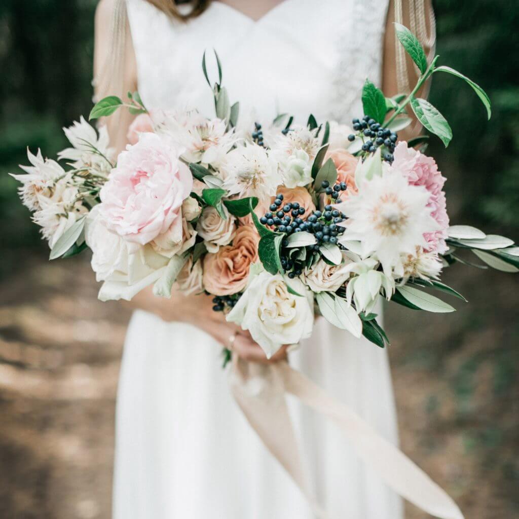 vintage peonies bridal bouquet