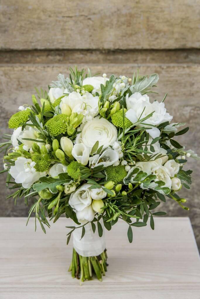 white elegant bridal bouquet
