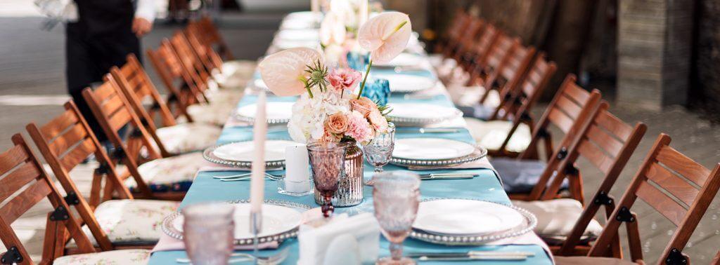 pretty wedding table decoration