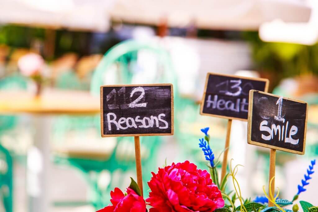 emotions signs centerpiece