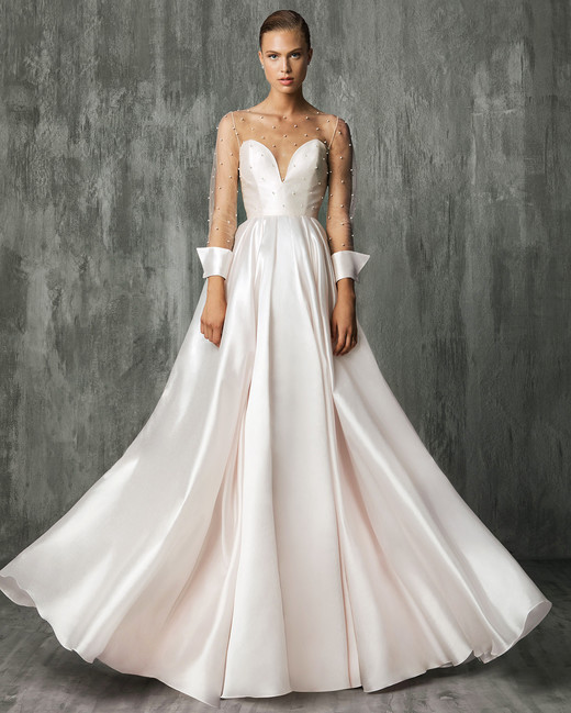 victoriakyriakides wedding dress fall2018 illusion