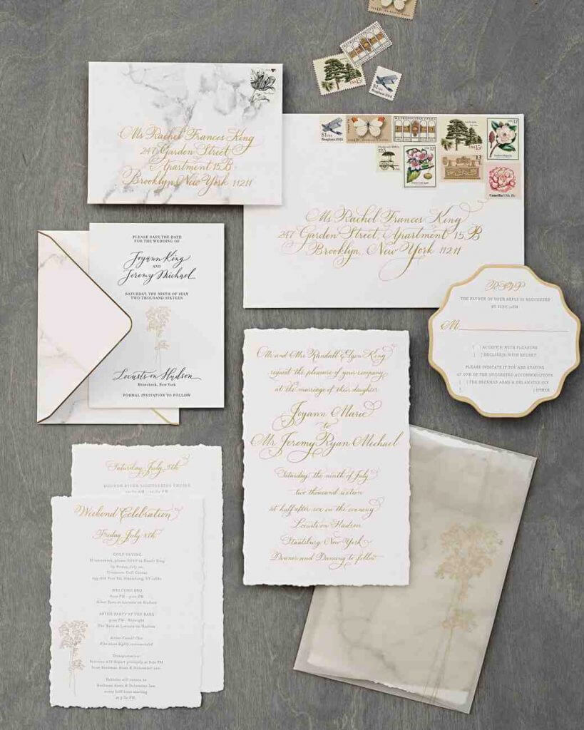 The Most Beautiful Wedding Invitation Trends For 2018 - Make Happy ...
