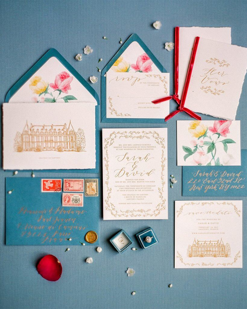 The most beautiful wedding invitation trends for 2018 make happy emily rose ink envelope liners wedding invitation trends stopboris Image collections