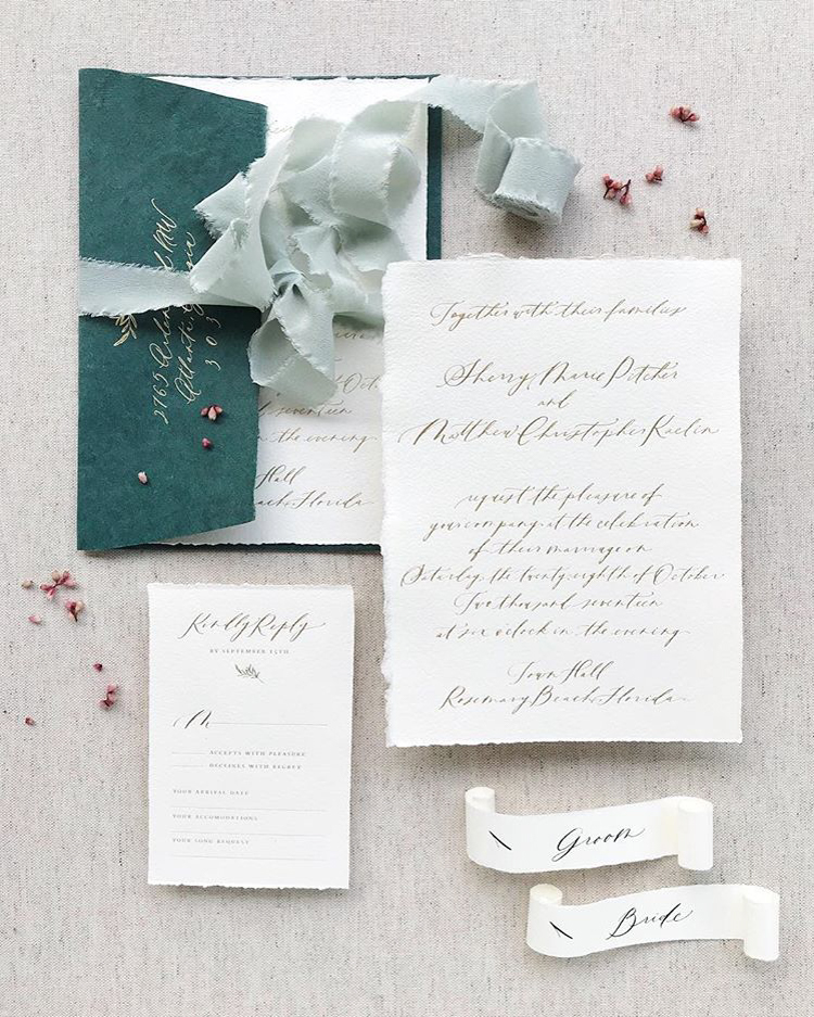 PLUME CALLIGRAPHY WEDDING INVITATION TREND