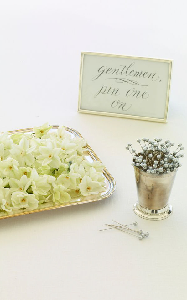 Wedding Boutonniere Bar