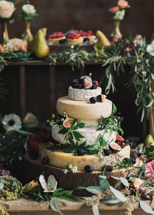 cheese wheel wedding