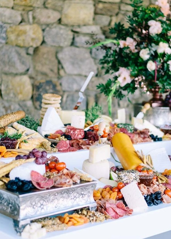charcuterie dried meats wedding