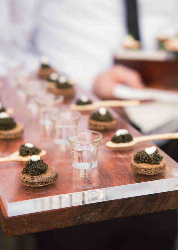 ​ hors d'oeuvres in spoon wedding food