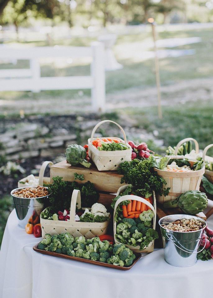 vegetables wedding bar
