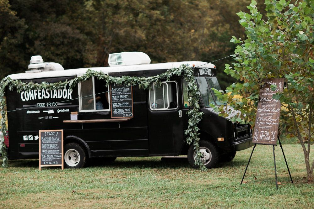 food truck at a wedding