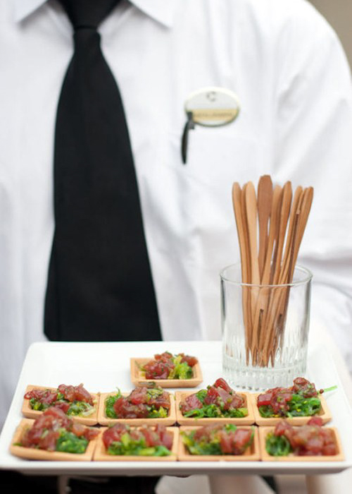 salad serve idea at a wedding