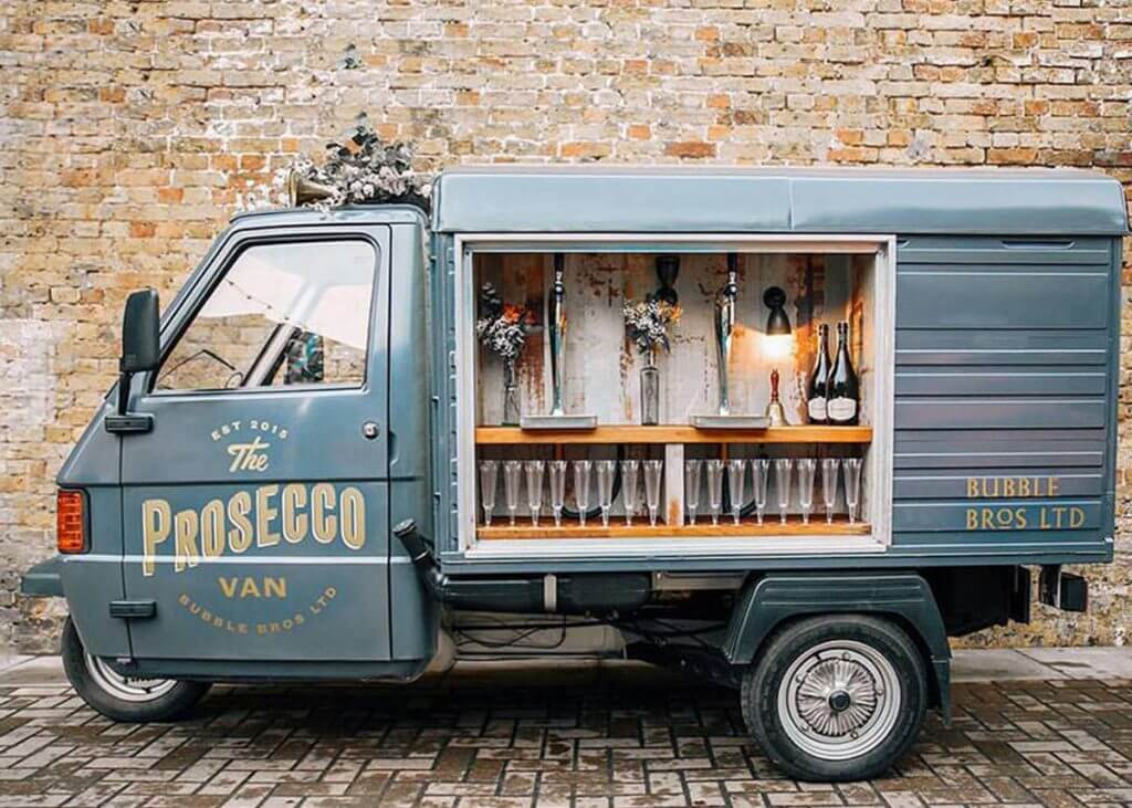 Prosecco wedding van