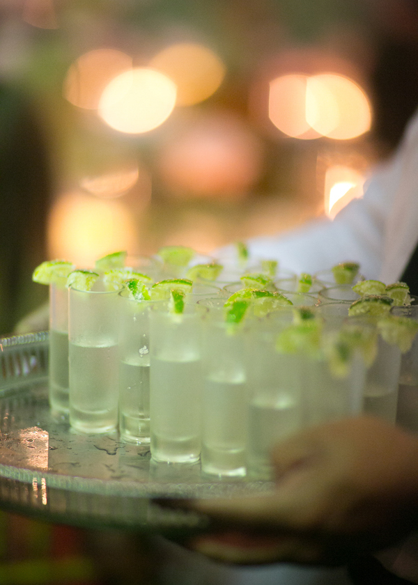 shots served in a wedding