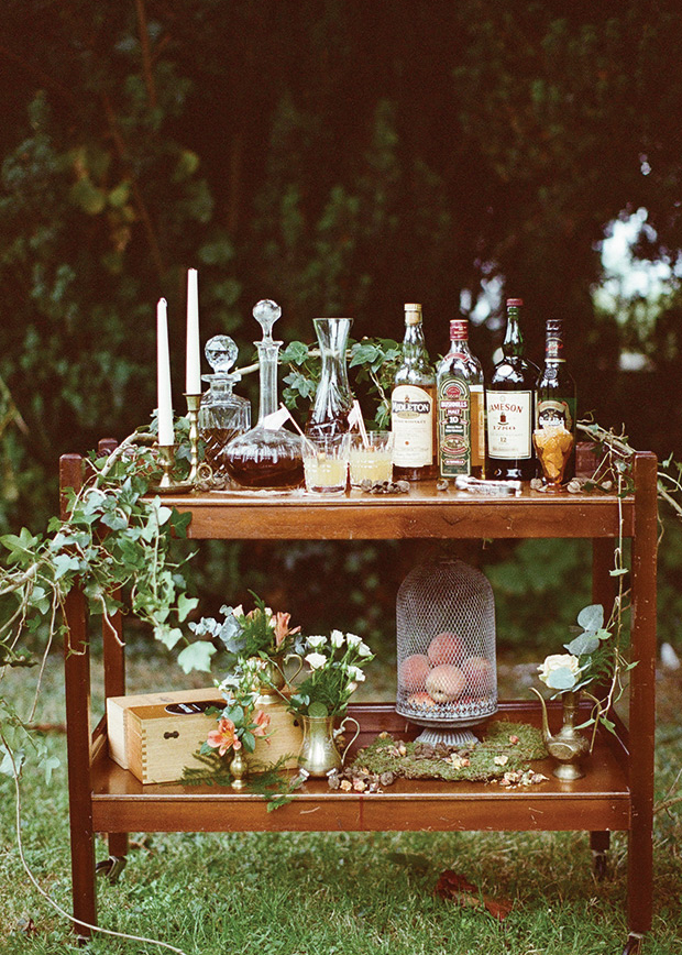 bourbon wedding bar idea