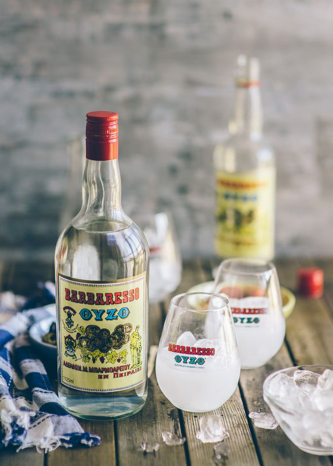 tradition greek ouzo alchool drink