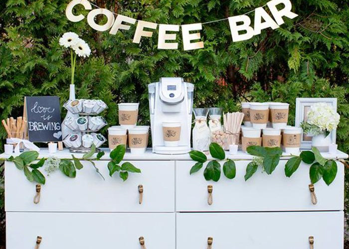 coffee wedding bar idea