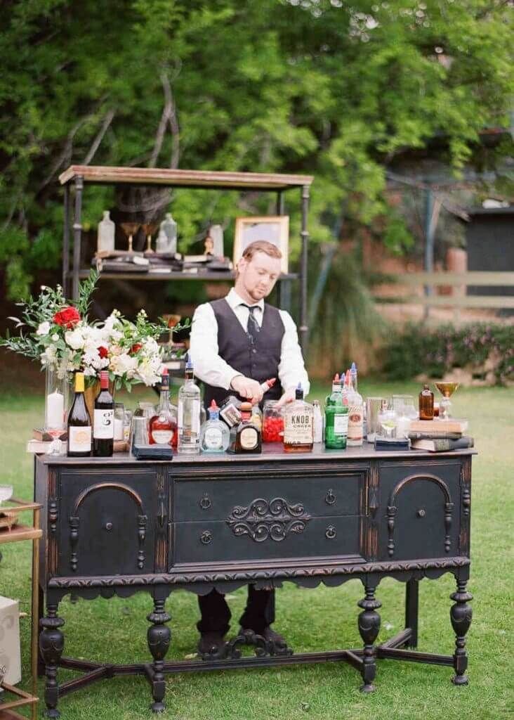 Booz wedding bar idea