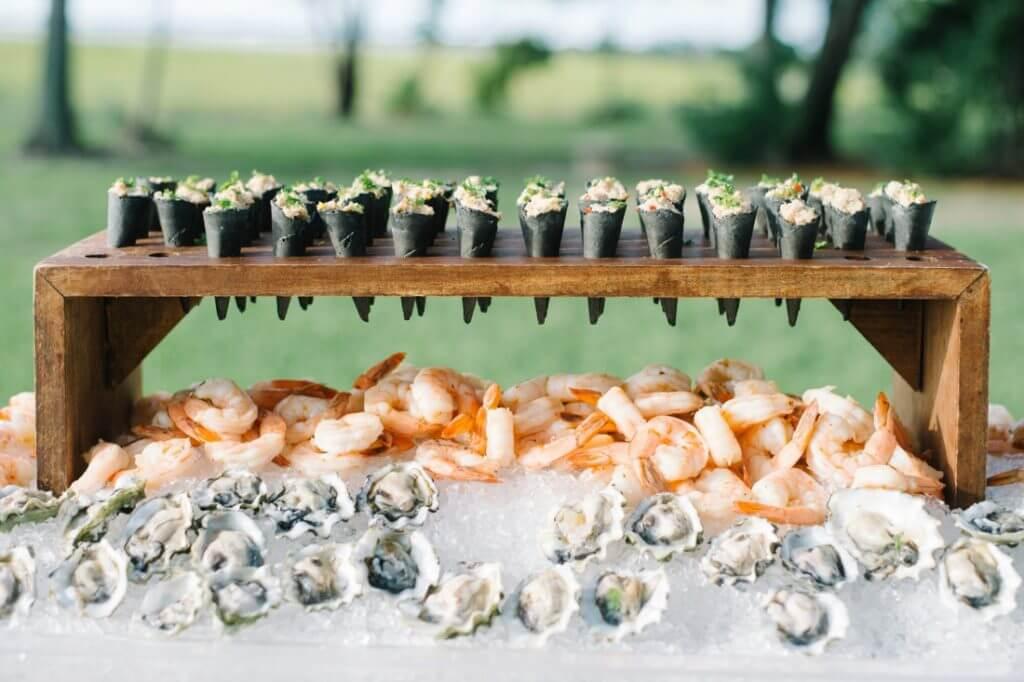 sushi oyster wedding bar