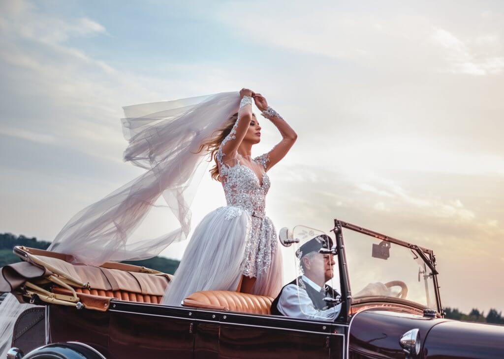 vintage wedding transportation idea