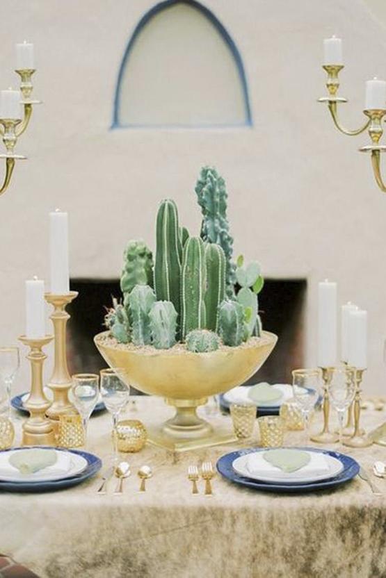 cactus Wedding decoration idea greece