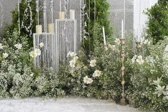 Gypsophila Wedding decoration idea greece