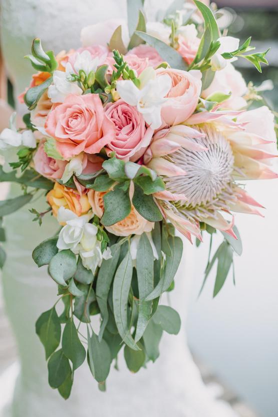 king protea Wedding decoration idea greece