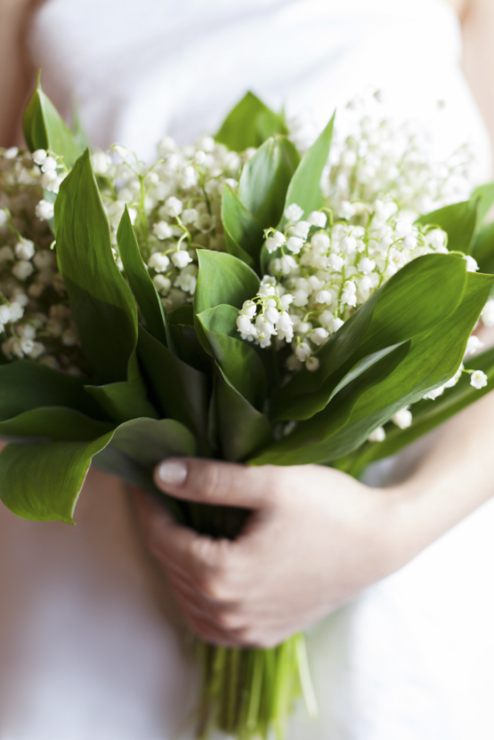 lily of the valley Wedding decoration idea greece