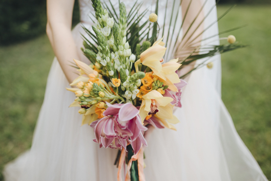 orchid Wedding decoration idea greece