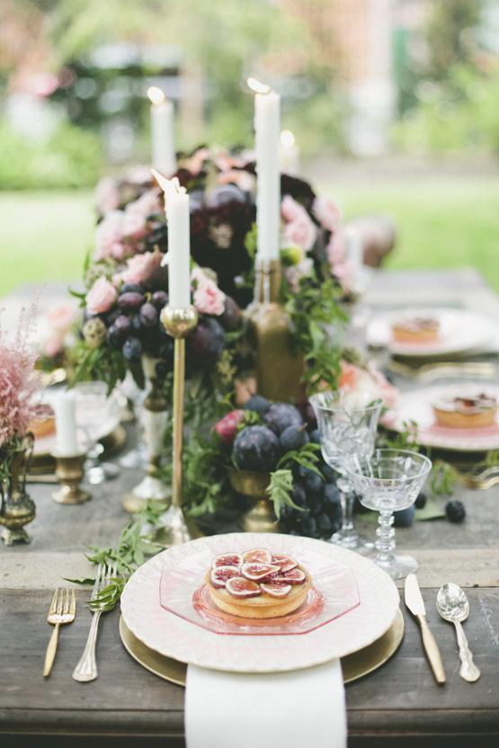organic fruit Wedding decoration idea greece