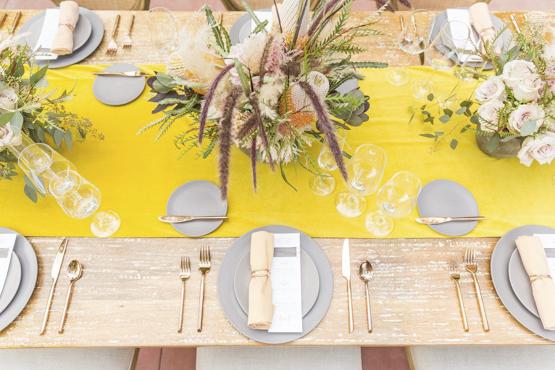 pampas grass Wedding decoration idea greece
