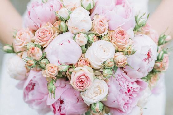 roses peonies Wedding decoration idea greece