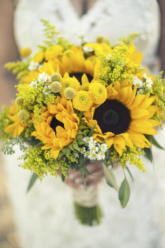 sunflower Wedding decoration idea greece