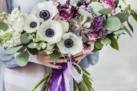white anemones Wedding decoration idea greece