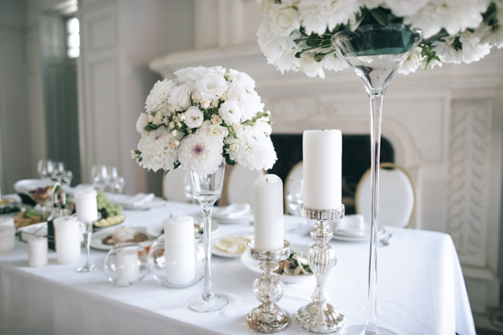 white roses dahlia  Wedding decoration idea greece