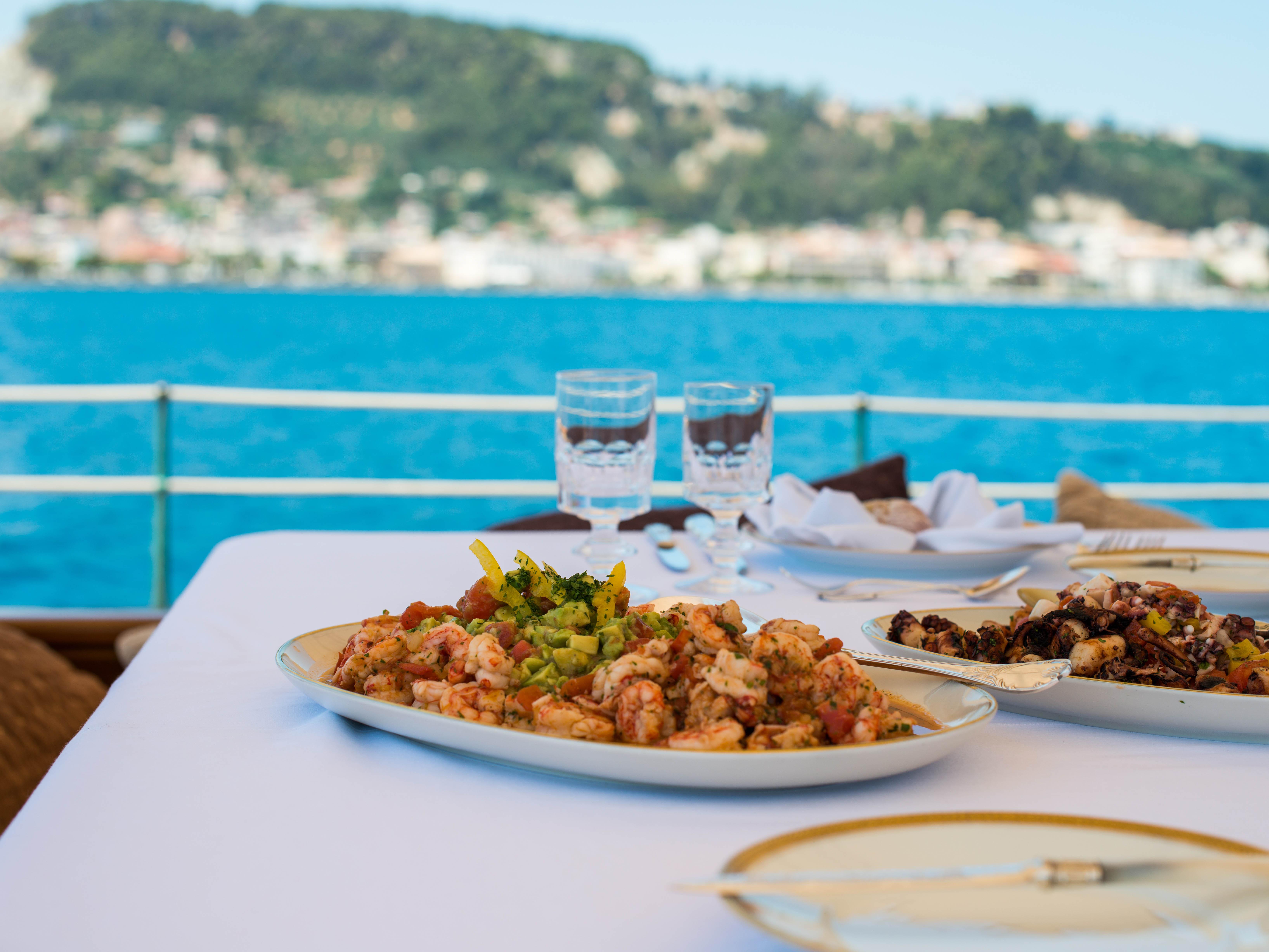 Yacht Wedding Party Fantastic Food