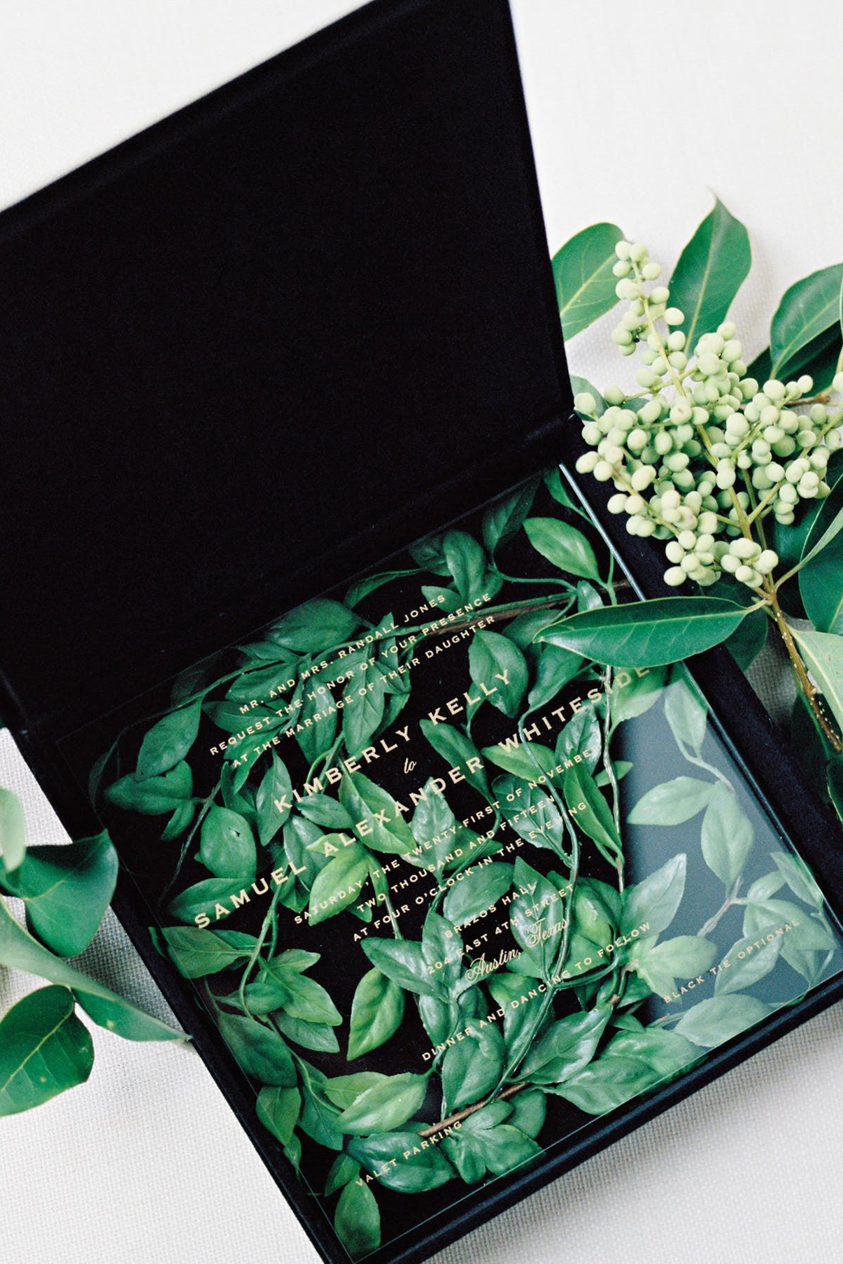 Make Happy Memories Greenery Invite2