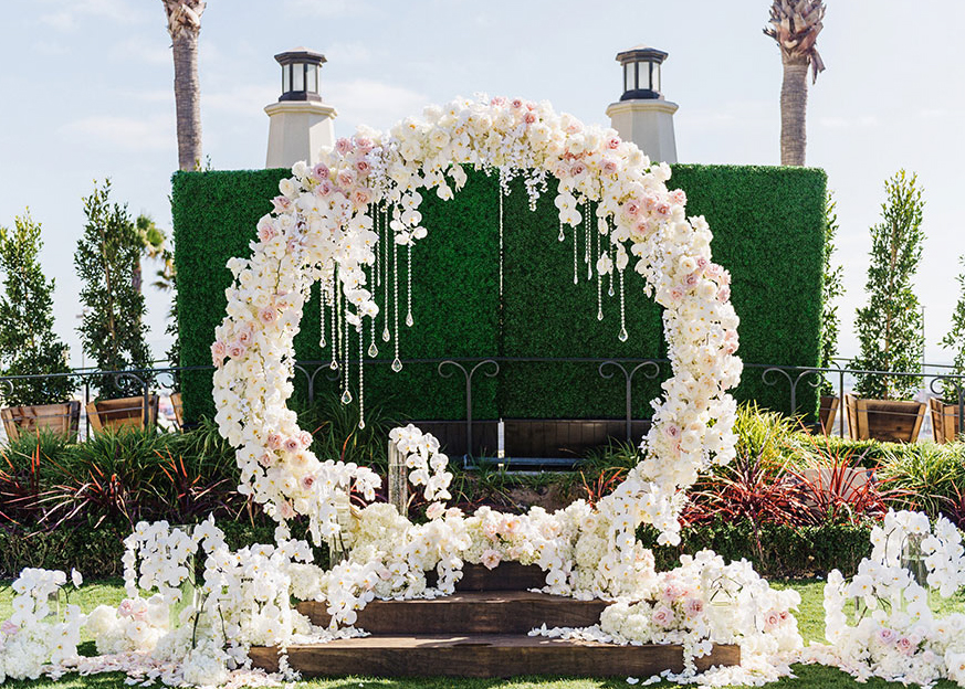 floral wedding arch make happy memories