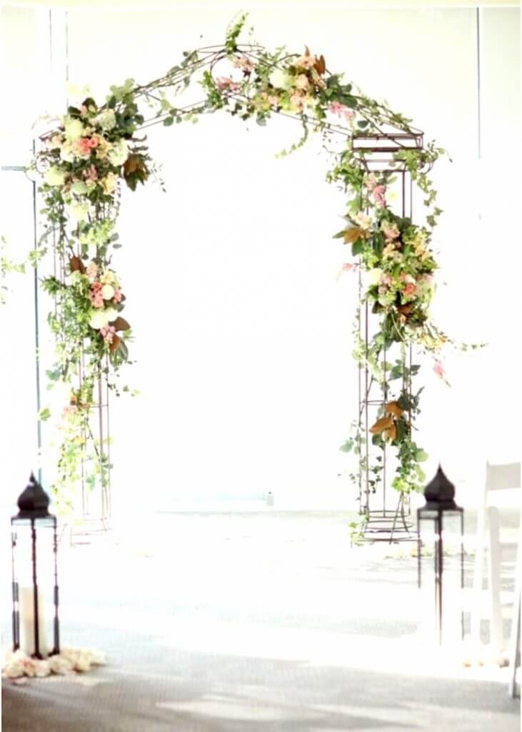 metal wedding arch make happy memories