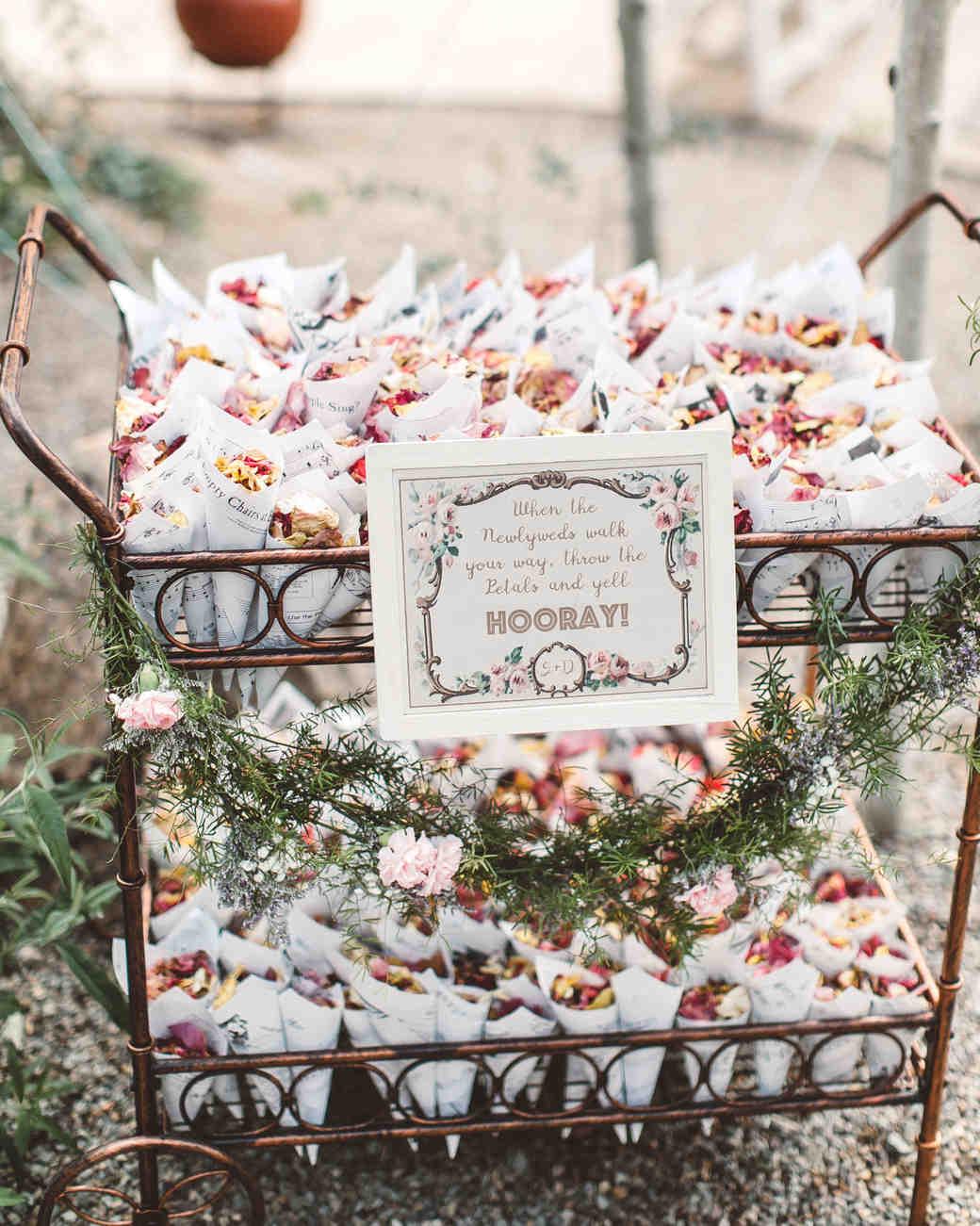 Make Happy Memories Wedding Corners Petal Bar
