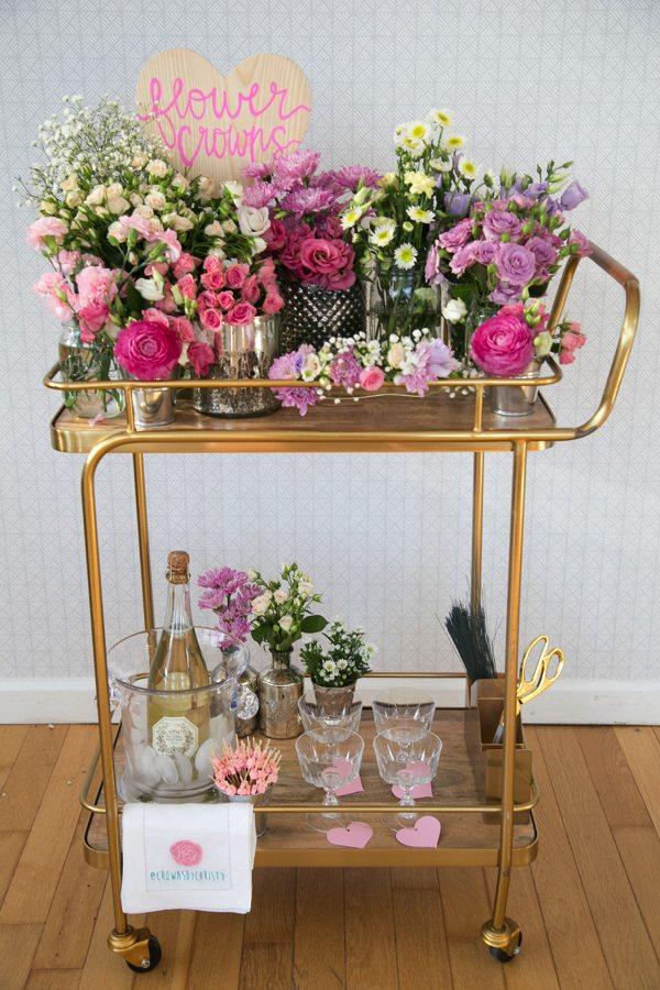 Make Happy Memories Wedding Corners Flower Crown Bar