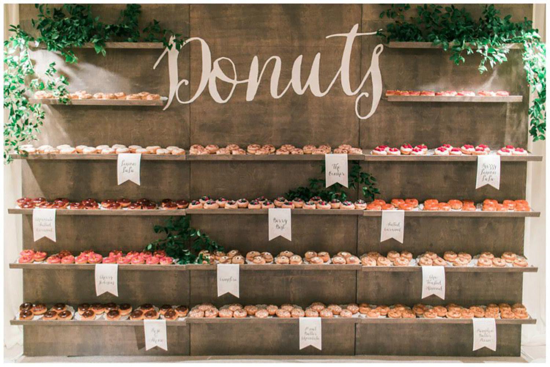 Make Happy Memories Wedding Corners Donuts