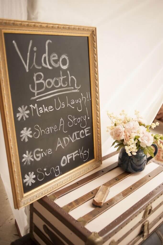 Make Happy Memories Wedding Corners Video Booth